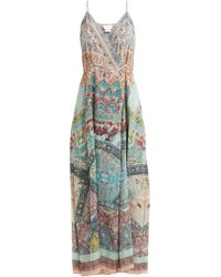 Camilla - Sisters Of Marigold Silk Wrap Dress - Lyst