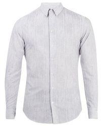 Giorgio Armani - Striped Cotton Shirt - Lyst