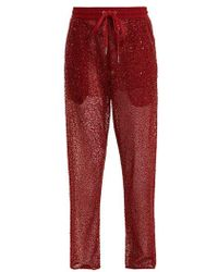 Ashish - Straight-leg Bead And Sequin-embellished Trousers - Lyst