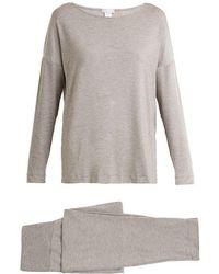 Hanro - Natural Elegance Jersey Pyjama Set - Lyst