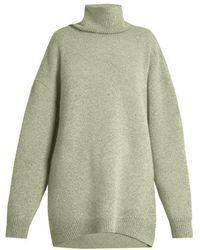 Raey - Displaced-sleeve Roll-neck Wool Jumper - Lyst