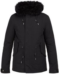 Yves Salomon - Shearling-lined Cotton-blend Parka - Lyst