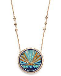 Jacquie Aiche | Sunset Pendant Diamond Necklace | Lyst