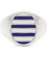 Jessica Biales - Enamel & Sterling Silver Ring - Lyst