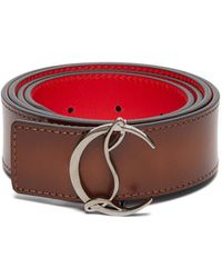 Christian Louboutin - Logo Leather Belt - Lyst