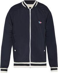 Maison Kitsuné - Windbreaker Varsity Jacket - Lyst