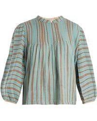 Ace & Jig - Mallorca Bell-sleeved Cotton-gauze Top - Lyst