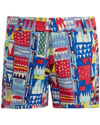 Le Sirenuse - Afrika Cotton Shorts - Lyst