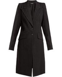 Ann Demeulemeester - Algernon Pinstriped Linen Blend Coat - Lyst