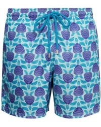 f42f0ec3dd Michael's Swimwear Seashell Print Swim Trunks in Blue for Men - Lyst