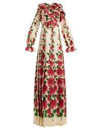 Gucci - Le Jardin De Rose Silk-twill Dress - Lyst
