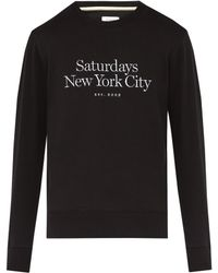 Saturdays NYC - Sweat-shirt en coton à broderie logo Bowery - Lyst