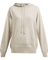 Allude Hooded Wool And Cashmere Blend Sweater