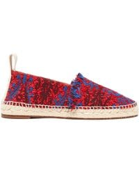 542e383299e Lyst - Gucci Princetown Chinoiserie Jacquard Slippers in Blue