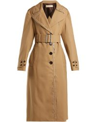 Marni - Belted Wool Trench Coat - Lyst