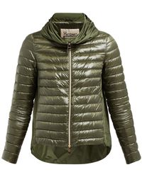 Herno - Pleated Collar Quilted Down Jacket - Lyst
