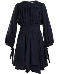 Chloé - Blouson-sleeved Cady Dress - Lyst