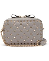 Valentino - Rockstud Small Quilted Leather Cross Body Bag - Lyst
