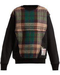 Vivienne Westwood - - X Harris Tweed Organic Cotton Sweatshirt - Womens - Black - Lyst