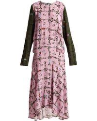 Preen Line - Rowen Vine And Floral Print Crepe Dress - Lyst