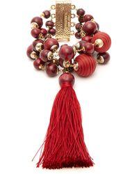 Rosantica By Michela Panero - Colonia Bead And Tassel Wrap Bracelet - Lyst