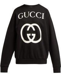 Gucci - Gg Print Cotton Sweatshirt - Lyst