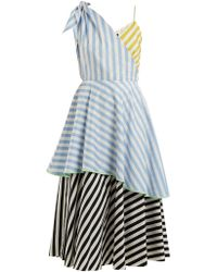 Anna October - Contrast-striped Cotton Dress - Lyst