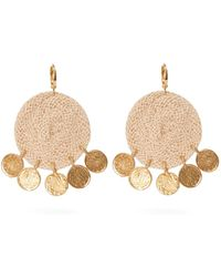 Elise Tsikis - Dolna Rope Circle And Gold Plated Drop Earrings - Lyst