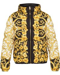 Versace - Baroque Print Hooded Jacket - Lyst