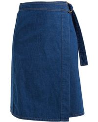 M.i.h Jeans - Ria Cotton Chambray Wrap Skirt - Lyst