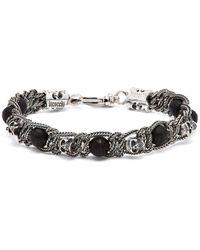 Emanuele Bicocchi - Skull Onyx Sterling-silver Bracelet - Lyst
