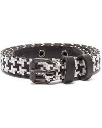 Haider Ackermann - Houndstooth Leather Belt - Lyst
