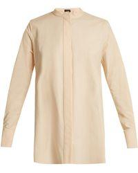 JOSEPH - Carla Stand-collar Cotton Shirt - Lyst