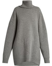 Raey - Displaced-sleeve Roll-neck Wool Sweater - Lyst