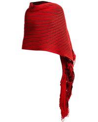 Balenciaga - Virgin Wool Knit Scarf - Lyst