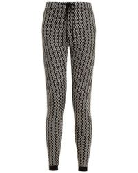 Perfect Moment - Frequency Zigzag-intarsia Slim-leg Wool Trousers - Lyst