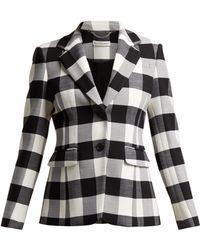 Altuzarra - Single-breasted Two-button Plaid Wool Blazer - Lyst