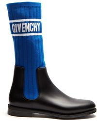 Givenchy - Storm Ribbed Knit Chelsea Boots - Lyst