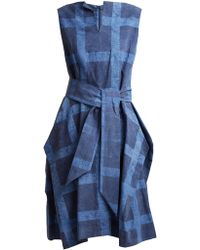 Vivienne Westwood Anglomania - Lotus Checked Tie-waist Cotton Dress - Lyst