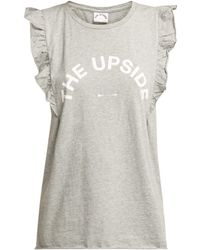 The Upside - Frill Muscle Logo Printed Tank Top - Lyst
