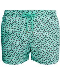 710b95e991e4 Lyst - Vilebrequin Moorea Turtle Sweater Print Swim Shorts in Blue ...