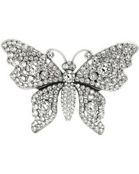 Gucci - Crystal-embellished Butterfly Brooch - Lyst