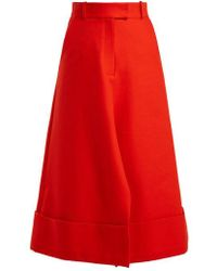 Awake - Turned-hem Cotton Skirt - Lyst