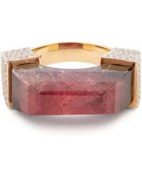 Jade Jagger - - Diamond, Tourmaline & Yellow Gold Ring - Womens - Burgundy - Lyst