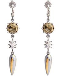 Bottega Veneta - Stellular Chalcopyrite-drop Earrings - Lyst