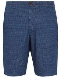 Oliver Spencer - Geometric-print Stretch-cotton Shorts - Lyst
