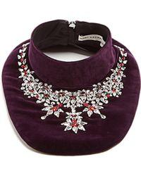 Mary Katrantzou - Crystal Embellished Velvet Bib Necklace - Lyst