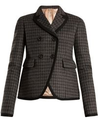 N°21 - Checked Double-breasted Jacket - Lyst