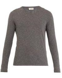 American Vintage - Jacksonville Long-sleeved Cotton-blend T-shirt - Lyst