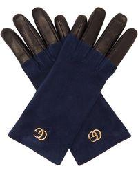 Gucci - Gg Suede Gloves - Lyst